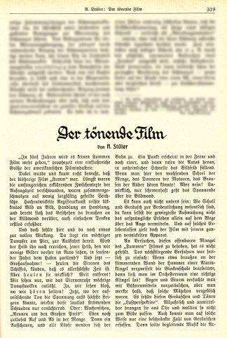 Der tönende Film (1929) 1