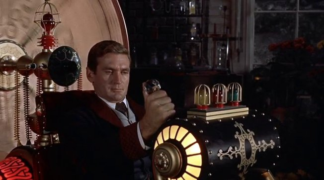 H. George Wells (Rod Taylor) in der Zeitmaschine. © MGM, Warner Home Video